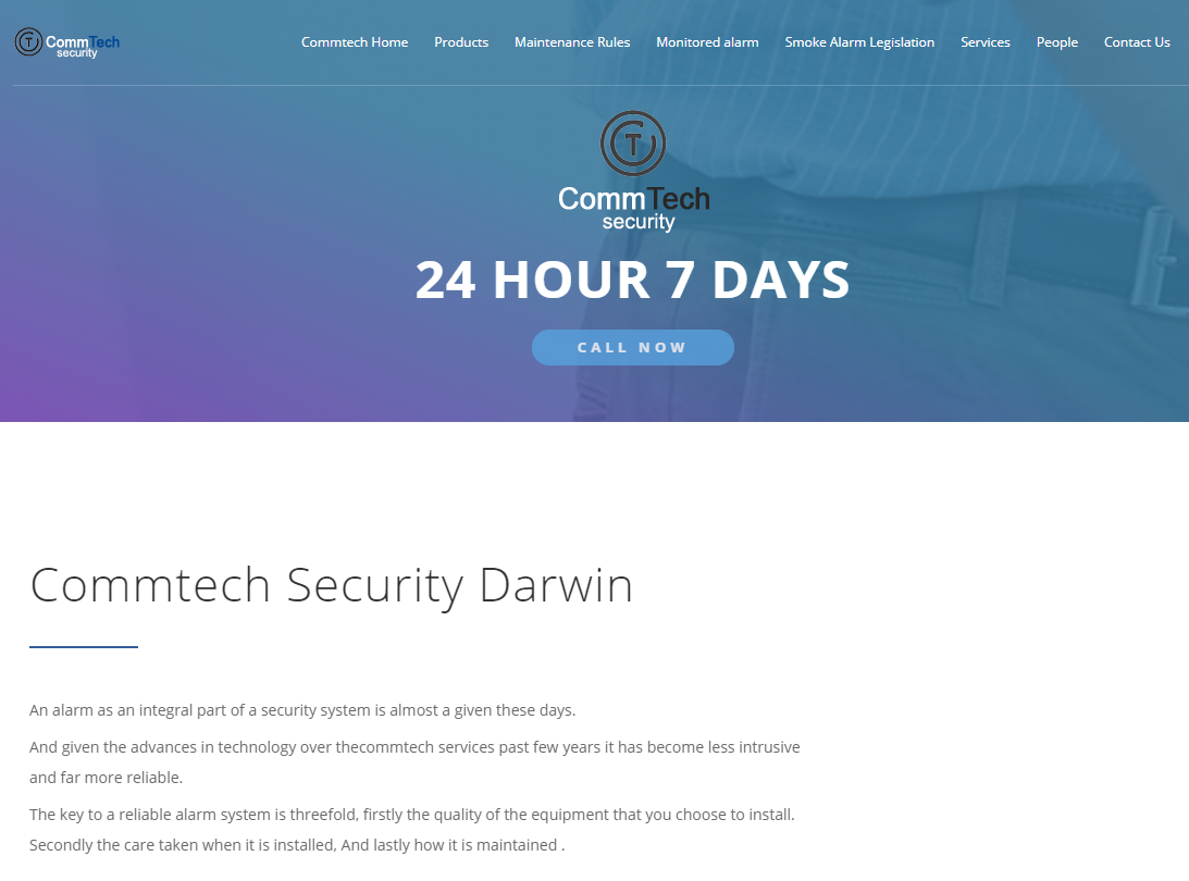 small security business websites